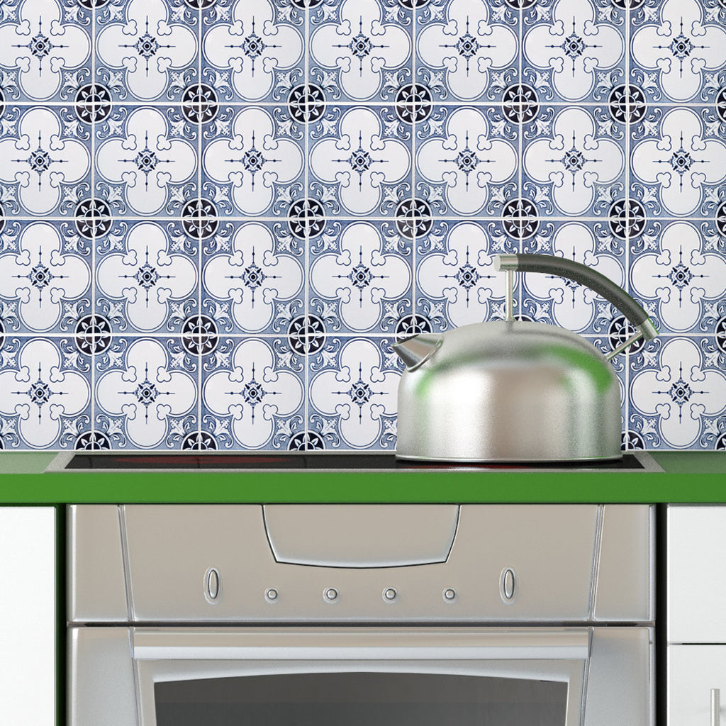 Portugal Tiles Stickers Faro - Pack of 16 tiles - for Walls Kitchen ...