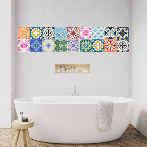 Tile decals Radom - Set of 16 - Self adhesive Peel and Stick