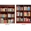 Door Wall Sticker Bookshelf - Self Adhesive Fabric Door Wrap Wall Sticker