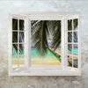Window Decal Jetty over the ocean - Fabric ILLUSION 3D Art DIY Wall Mural Wallpaper