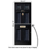 Door Mural Sherlock 221b Baker Street - Self Adhesive Fabric Door Wrap Wall Sticker