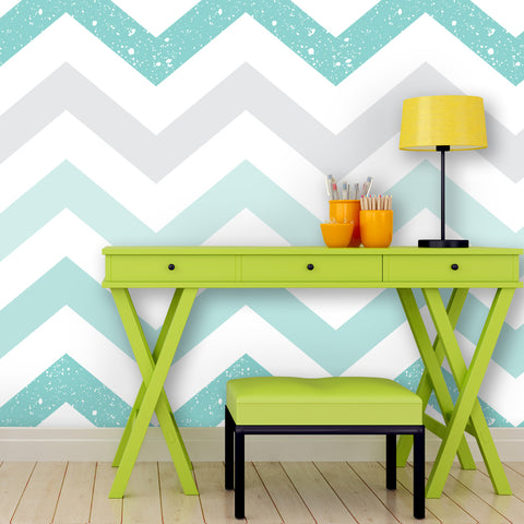 Chevron Pattern 03 Peel & Stick Repositionable Fabric Wallpaper