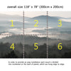 Wall Mural Mountains with fog, Fabric Wallpaper for Interior Home Decor