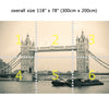 Wall Mural London Tower Bridge, Peel and Stick Fabric Wallpaper for Interior Home Decor