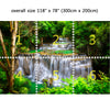 Wall Mural Waterfall in Deep forest, Peel and Stick Fabric Wallpaper for Interior Home Decor