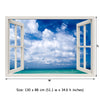 Window Frame Mural Beautiful Sea - Peel and Stick 3D Wall Decal