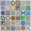 Portuguese Tiles Stickers Aljustrel - Pack of 36 tiles - Tile Decals Art