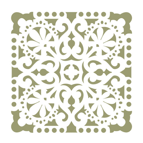 Wall Stencils Damask Tile Stencil for DIY Decor Faux Reusable Template V0035