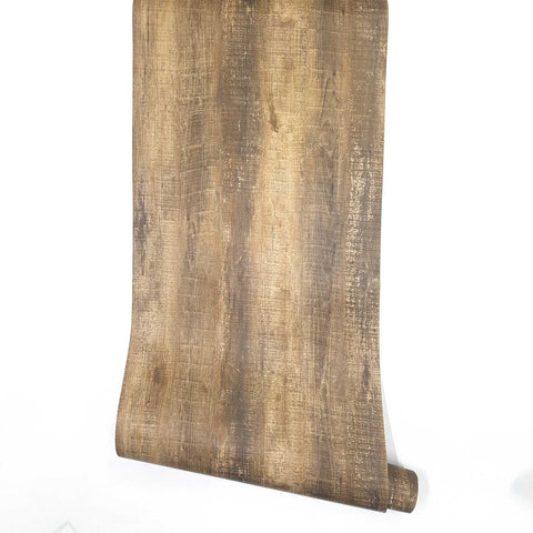 Rustic Wood Look Peel and Stick Wallpaper Djenne, Decorative Self-Adhesive Film