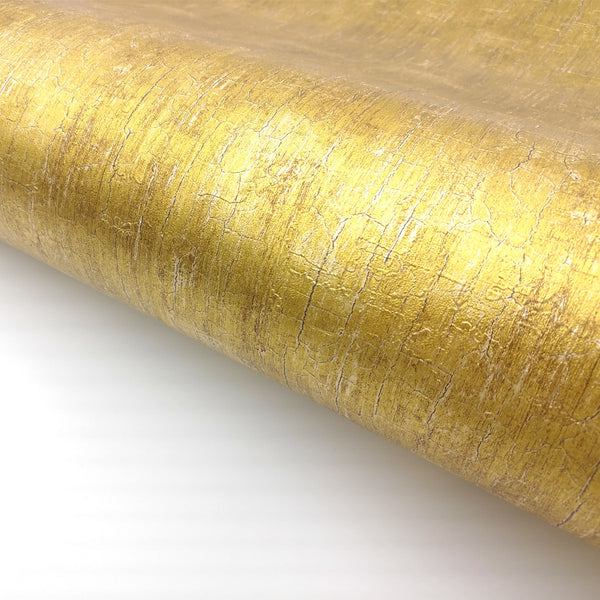 Gold Metallic Glitter Shinny Peel and Stick Wallpaper Embossed Contact Paper
