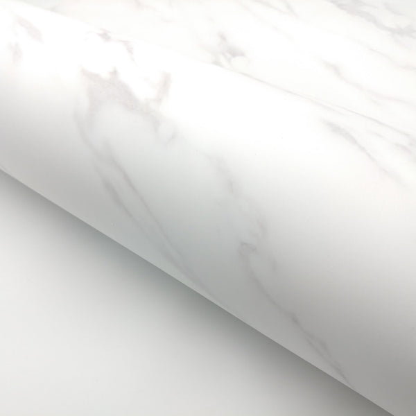 "Matte White Marble Interior film - 24"" x 78.7"" Roll"