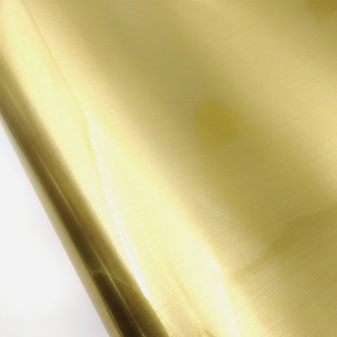 Brushed Metal Look Contact Paper Film Gold, Metallic Shelf Liner