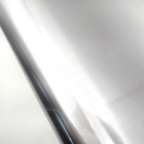 Metal Look Interior Film Silver, Waterproof Metallic Gloss Shelf Liner For Kitchen Cabinet