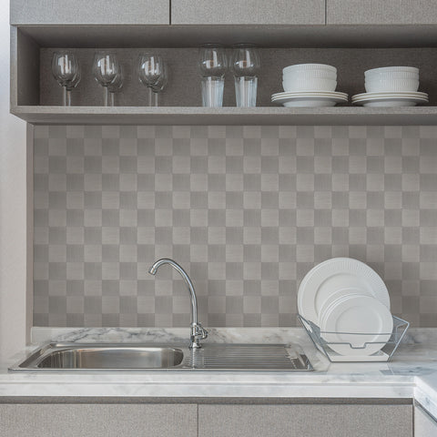 Peel and Stick Metal Backsplash Tile Astara, Aluminum Surface for Wall Decor Kitchen Wall