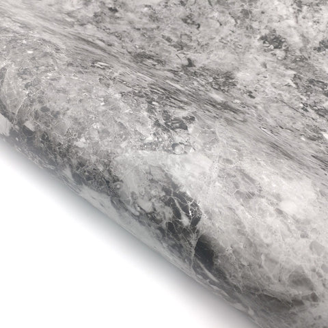"Marble Contact Paper Granite Look Effect - Black, Matte 24"" x 78.7"""