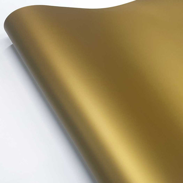 Matte Metallic Gold Adhesive Vinyl Wrap roll