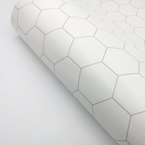 "Peel and Stick Pvc Foaming Wallpaper Hexagon Tile Ambila 19.6"" x 78.7"""