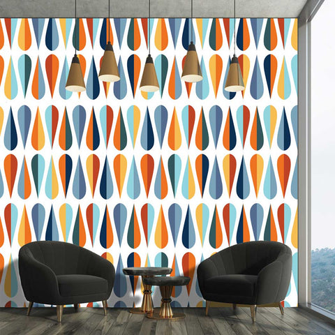 Modern Style Pattern Joye Self adhesive Peel and Stick Fabric Wallpaper Covering