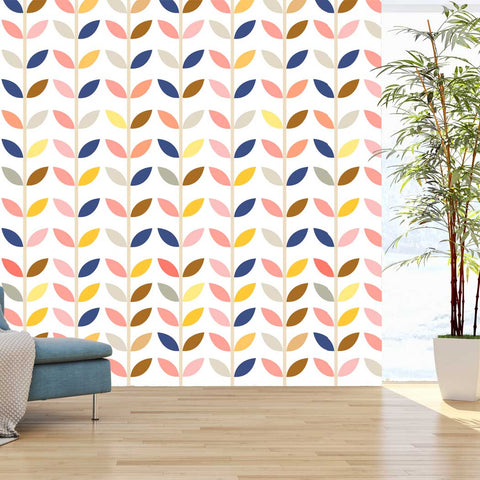 Scandinavian Style Pattern Aefre Self adhesive Peel and Stick Fabric Wallpaper