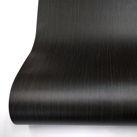Black Wood Grain Look Peel and Stick Wallpaper Bendeghe