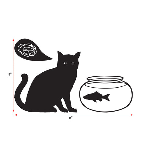 Vinyl Wall decal Confusing cat, Wall Stickers for Modern Wall design for Home Decor Art