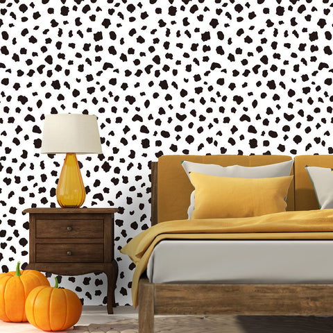 Leopard Pattern Istiaia Self adhesive Peel & Stick Repositionable Fabric Wallpaper