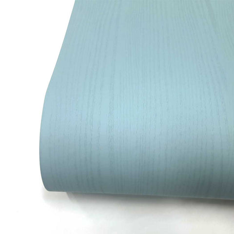 Matte Light turquoise Wallpaper Painted Look Wood Grain Self Adhesive Paper