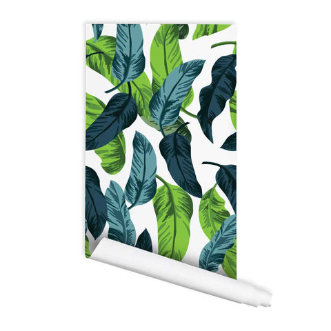 Banana Leaf Wallpaper Banana Print Wallpaper Peel & Stick Removeable Fabric Wallpaper