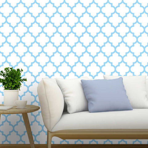 Moroccan Pattern Abadine Self adhesive Peel and Stick Fabric Wallpaper