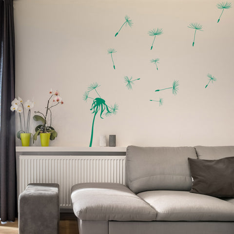 Dandelion Vinyl Wall decal for Nursery Living Space Decor Art Graphics