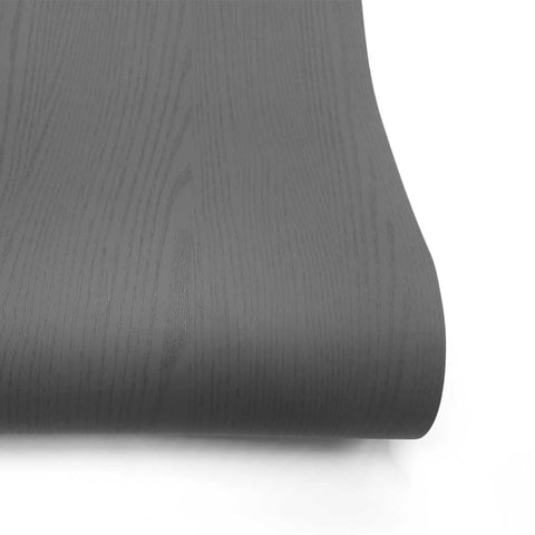 Matte Dark gray Wallpaper Painted Look Wood Grain Self Adhesive Paper