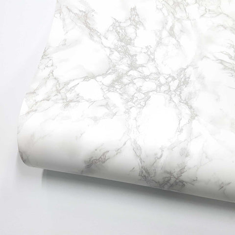 "Marble Interior film Self adhesive - White Matte, 24"" x 78.7"""