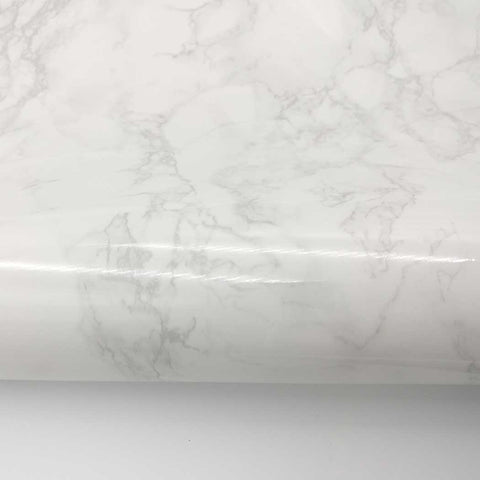 "Marble Contact Paper Peel & Stick - Beige gray Glossy 24"" x 78.7"" Roll"