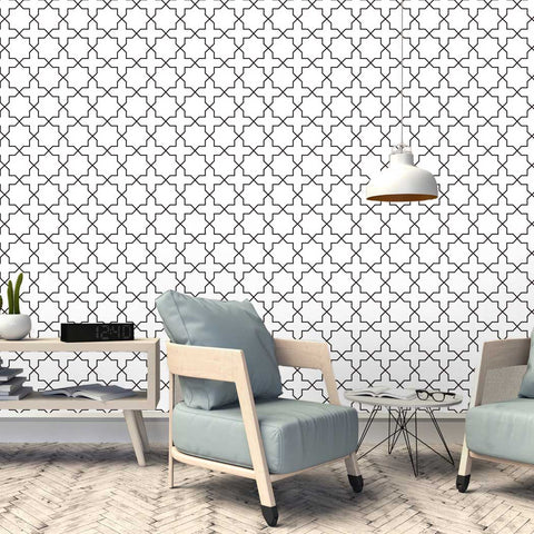 Traditional Moroccan Chemaia Peel & Stick Removeable Fabric Wallpaper