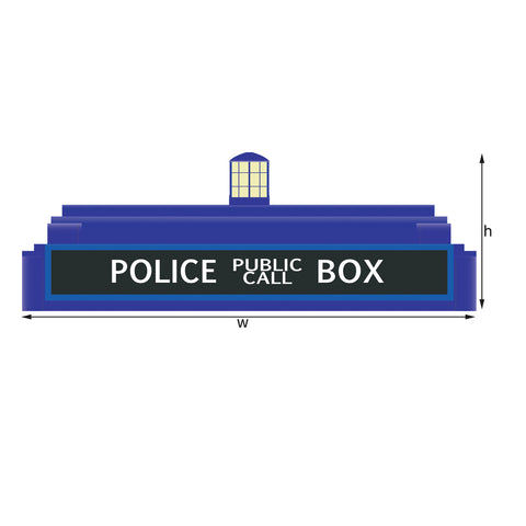 Dr Who Tardis Police Call Box Door Topper, Peel and Stick Fabric Decal