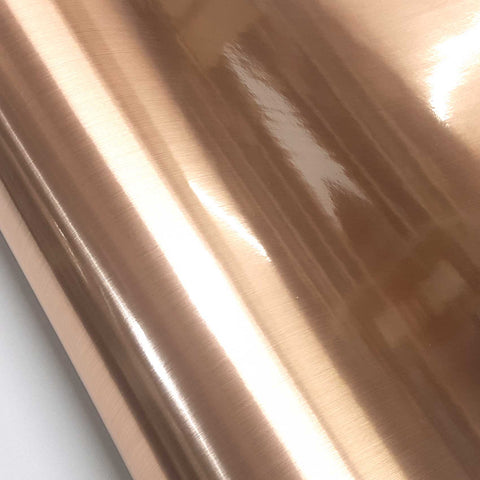 Metal Look Interior Film Rose Gold, Waterproof Metallic Shelf Liner
