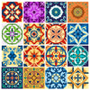 Tile decals Pori - Set of 16 - Peel and Stick Tile Stickers for Home decor