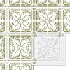 Wall Stencils Damask Tile Stencil for DIY Decor Faux Reusable Template V0034
