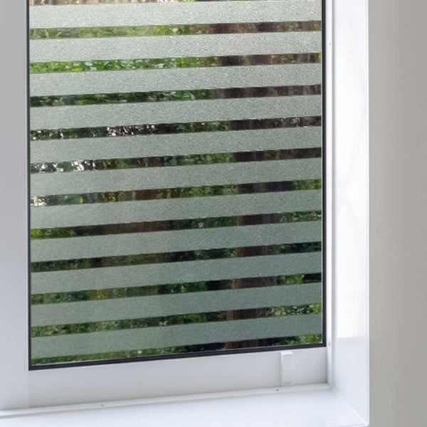 "Static Cling Stripes Privacy Window Film Glass Covering Film 19.6"" x 78.7"""