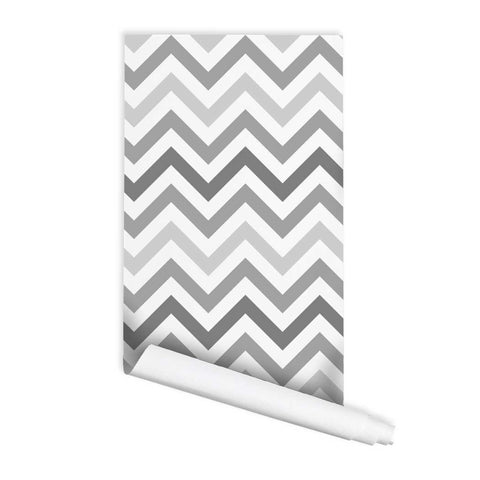 Chevron Pattern Patti Peel & Stick Repositionable Fabric Wallpaper