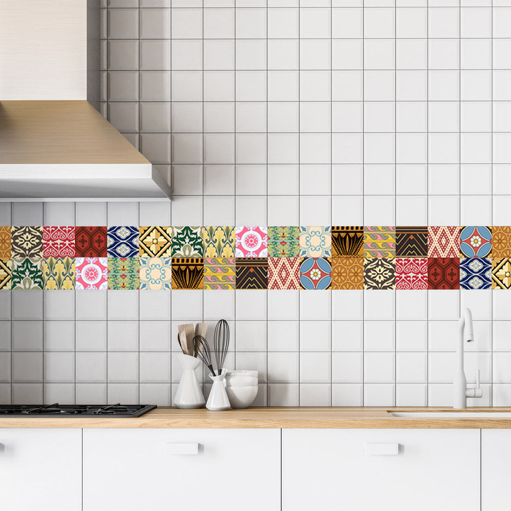 Decorative Tiles Stickers Oslo Pack Of 16 Tiles Tile Decals For Walls Kitchen Bathroom