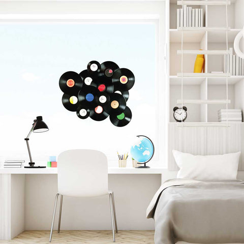Vintage vinyl records Wall Sticker Peel and stick Wall Decal for kids Room Decor