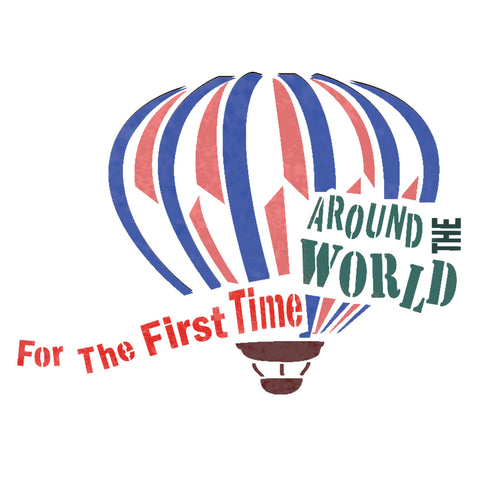 Hot Air Balloon Around the world stencil template for DIY home decor crafts