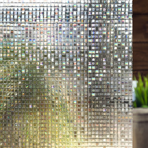 "Non-Adhesive Window Film Laura, Static Cling Decorative Privacy Film 35.4"" x 78.7"""