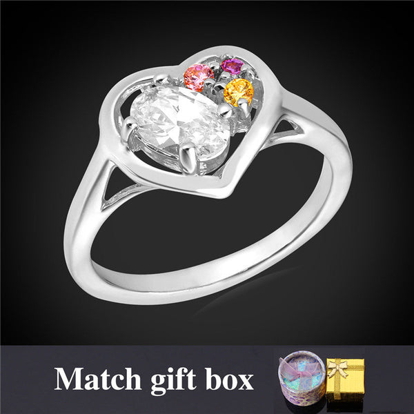 Heart Gold Plated Rings