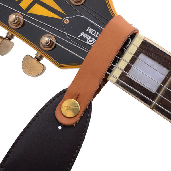 Guitar Faux Leather Strap Button For Acoustic / Classical