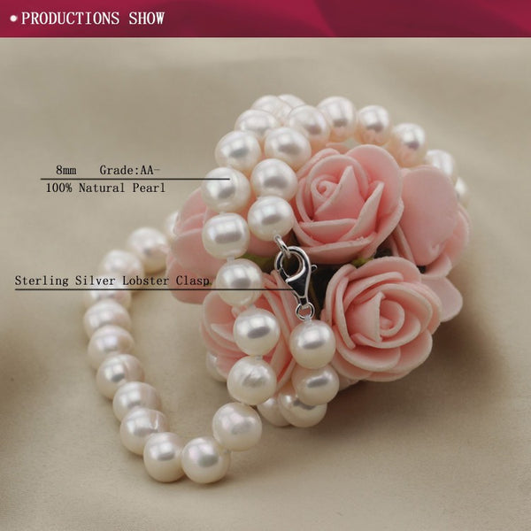 Real Freshwater Natural Pearl Necklace