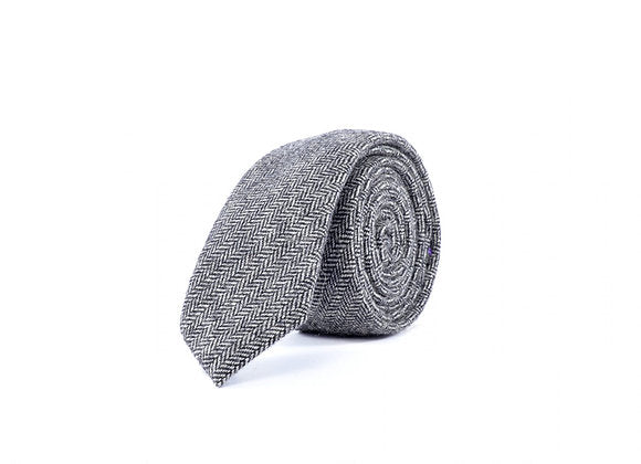 Chase - Light Grey Wool Tie