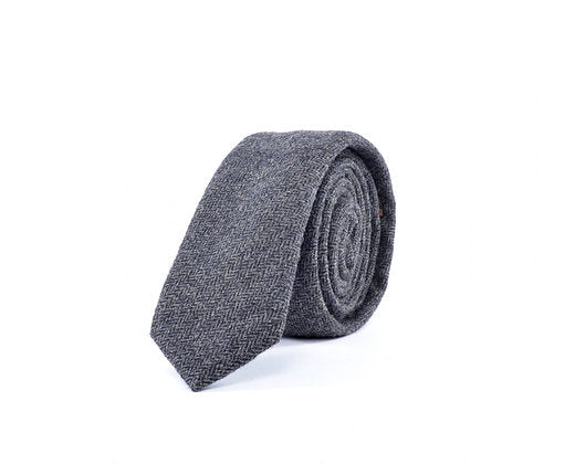 Ruben - Dark Grey Wool Tie