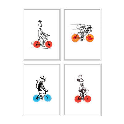 Cycling Cards Hot Wheels Collection - Set of four